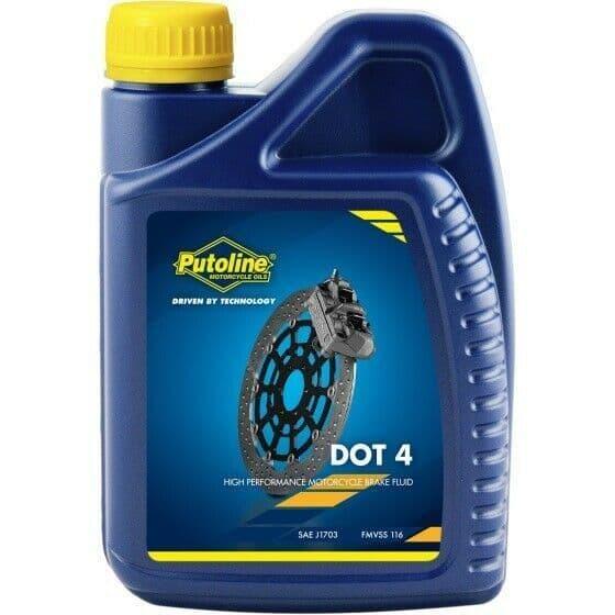 Putoline DOT 4 High Performance Synthetic Motorcycle Motorbike Brake Fluid - 1L