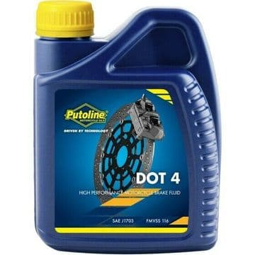 Putoline DOT 4 High Performance Synthetic Motorcycle Motorbike Brake Fluid 500ml