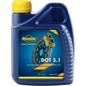 Putoline DOT 5.1 Synthetic Motorcycle Motorbike Brake Fluid - 500ml