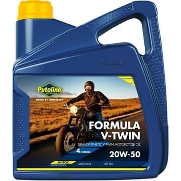 Putoline Formula V-Twin 20W/50 Semi Synthetic N-Tech Motorcycle Motorbike Oil 4L