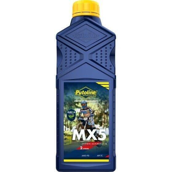 Putoline MX5 Off Road MX Motocross Synthetic 2 Stroke Oil Pre/Post Mix - 1L