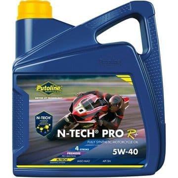 Putoline N-Tech Pro R+ 5W/40 Fully Synthetic N-Tech Motorcycle Motorbike Oil 4L
