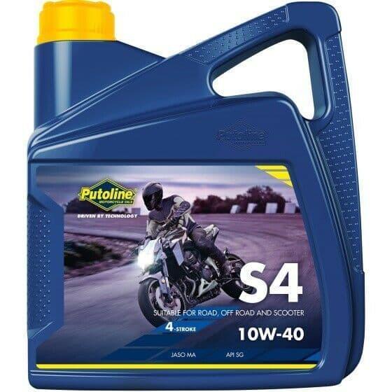 Putoline S4 10W/40 Mineral Based Motorcycle Motorbike Oil 4L