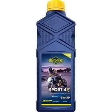 Putoline Sport 4R 15W/50 Semi Synthetic N-Tech Motorcycle Motorbike Oil 1ltr