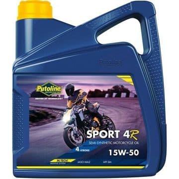 Putoline Sport 4R 15W/50 Semi Synthetic N-Tech Motorcycle Motorbike Oil 4ltr