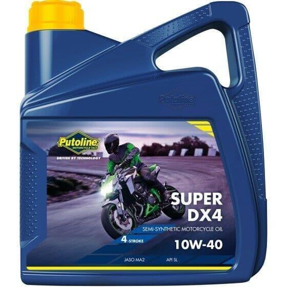 Putoline Super DX4 10W/40 Semi Synthetic Motorcycle Motorbike Oil 4L