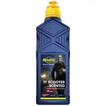 Putoline TT Scooter Strawberry Scented Synthetic Low Smoke 2 Stroke 2T Oil - 1L