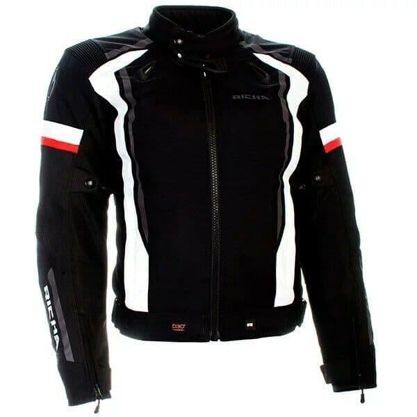 Richa Airwave Waterproof Breathable Motorcycle Motorbike D3O Jacket Black White