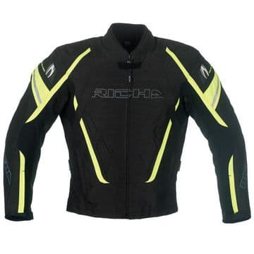RICHA Cage Black / Fluo   Waterproof Vented Textile Motorcycle Jacket