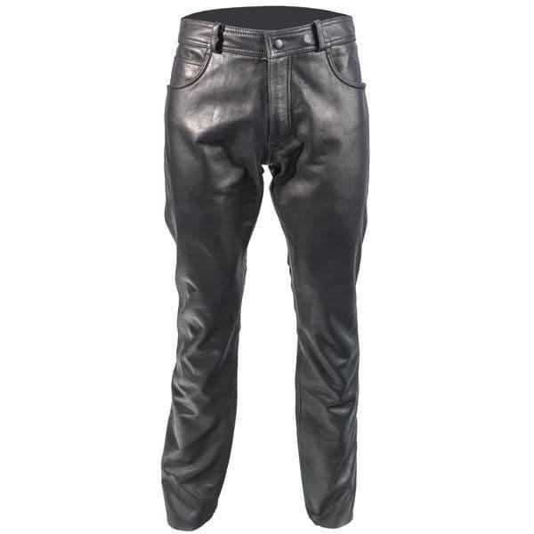 Richa Classic Ladies Leather Motorcycle Motorbike Jeans - Black
