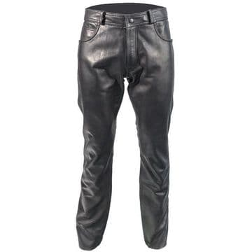 Richa Classic Ladies Leather Motorcycle Motorbike Jeans - Black