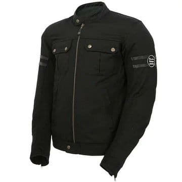 Richa Fullmer Vintage Retro Style Motorcycle Motorbike Textile D3O Jacket Black