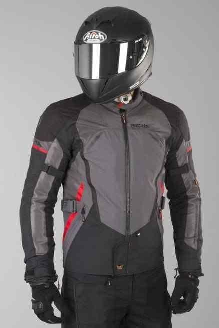 Richa Scirocco Waterproof Textile Motorcycle Jacket D3O Armour - Titanium