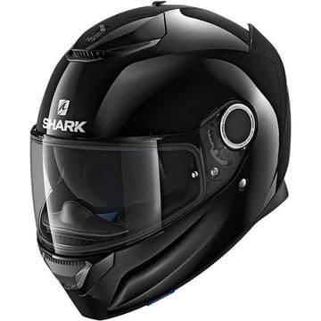 Shark Spartan Blank Black BLK Full Face Motorcycle Helmet