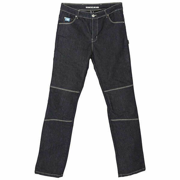 Spada Rigger Selvedge Motorcycle Motorbike Denim Jeans CE Knee Armour Blue Short
