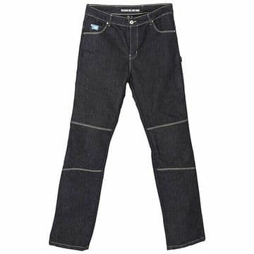 Spada Rigger Selvedge Motorcycle Motorbike Denim Jeans CE Knee Armour Blue Short