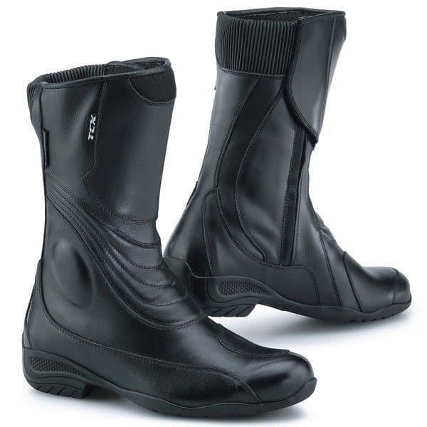 TCX Lady Aura Ladies Womens Waterproof Motorcycle Touring Boots - Black