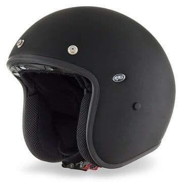 Vintage Premier Jet Fiber Motorbike Helmet Le Petit Classic Evo U9 BM Matt Black