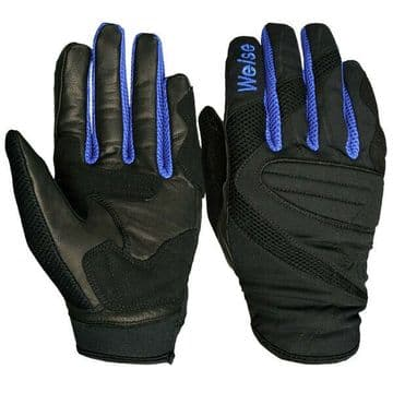 Weise Airspin Ventilated Summer Motorcycle Motorbike Glove - Black / Blue