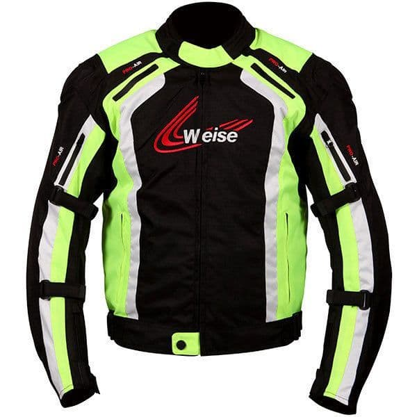 Weise Corsa Black/Yellow Sports Racing Waterproof CE Approved Motorcycle Jacket