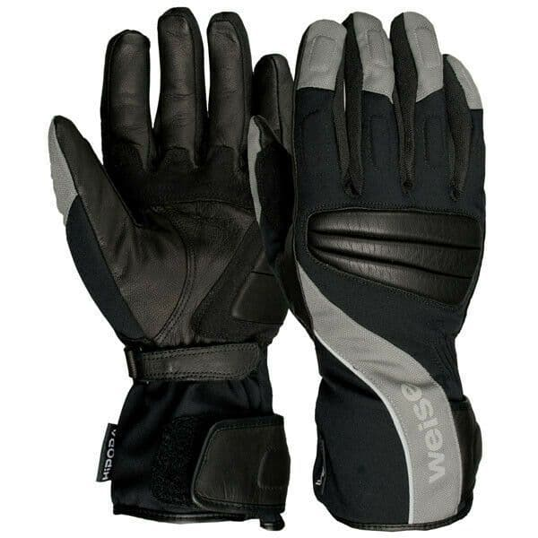 Weise Fusion Waterproof Leather Textile Mix Motorcycle Motorbike Glove