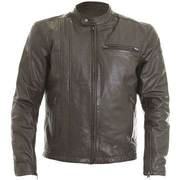 Wolf 2410 Spirit Leather Leather Motorcycle Motorbike Jacket D30 Armour - Brown