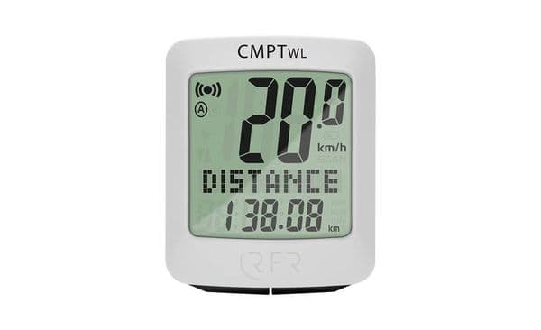 RFR Cycle Computer Wireless CMPT (white)