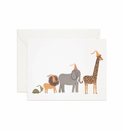 Animal parade card