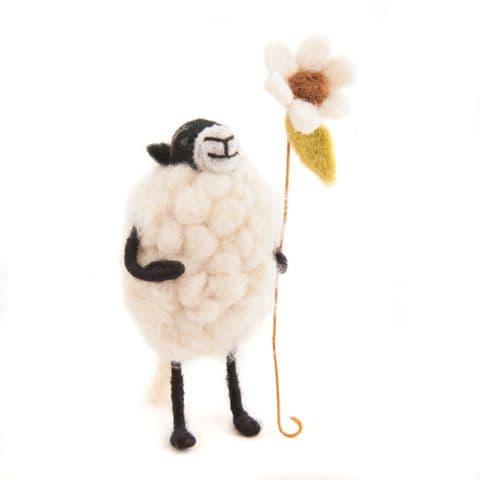 Barbara Sheep with Flower