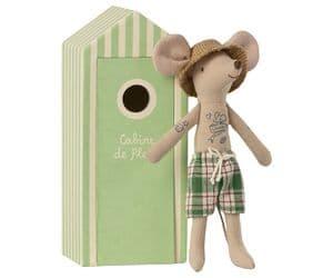 Beach mouse - dad in cabin de plage