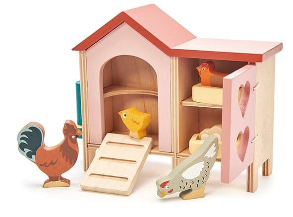 Chicken coop wooden play set by Tender Leaf toys