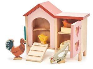 Chicken coop wooden play set
