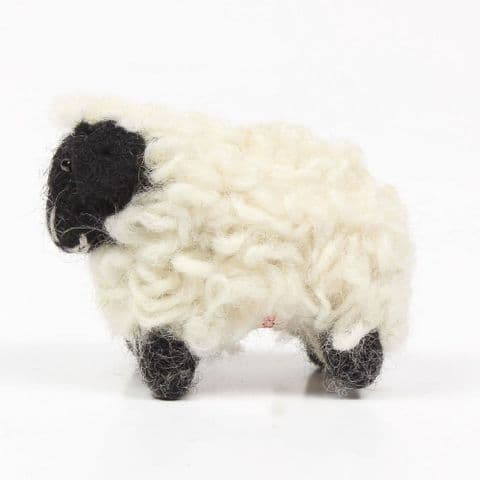 Easter black and white sheep decoration