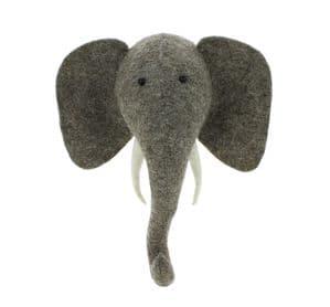 Elephant wall-mounted head mini size