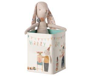 Happy Day Bunny in a box - medium