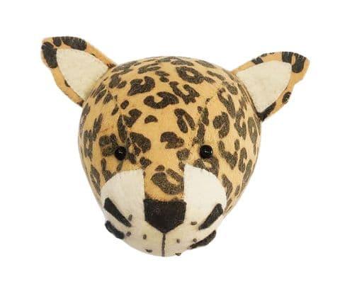 Leopard wall-mounted head mini size