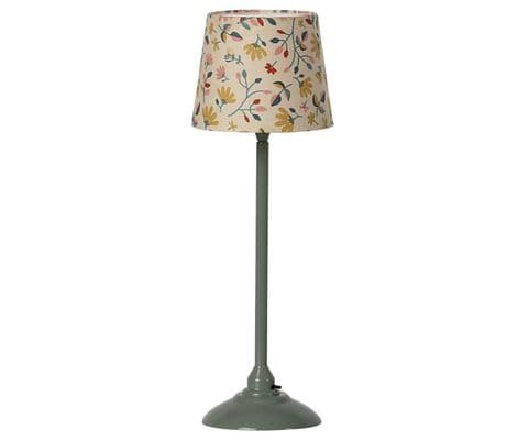 Maileg miniature floor lamp - dark mint
