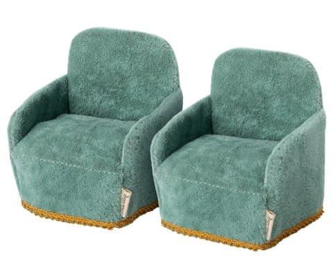 Maileg set of 2 miniature armchairs