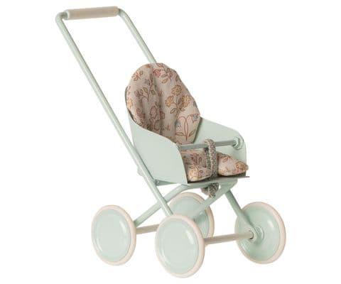 Maileg stroller - sky blue