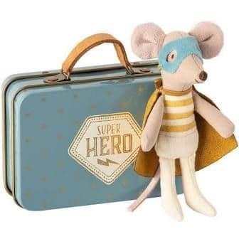 Maileg superhero in a suitcase