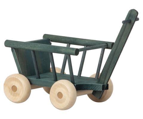 Maileg wooden wagon - petrol