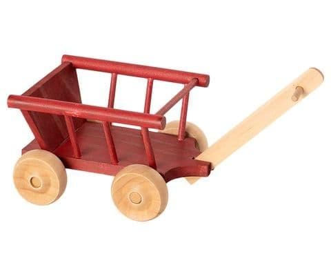 Maileg wooden wagon - red