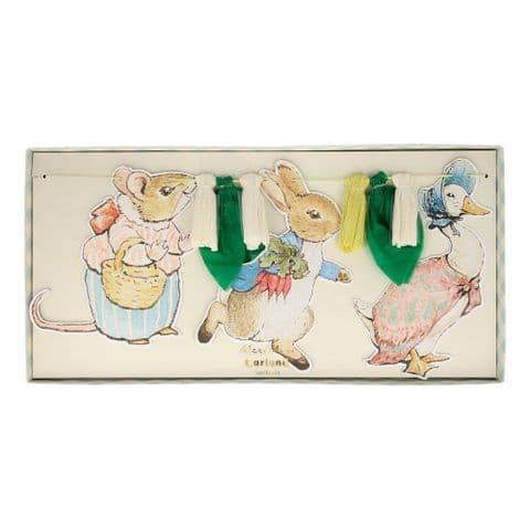 Meri Meri Peter Rabbit garland
