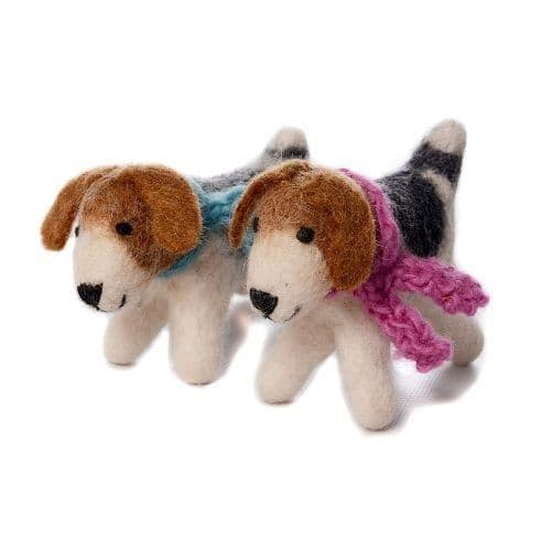Mini Fox Terriers - set of two