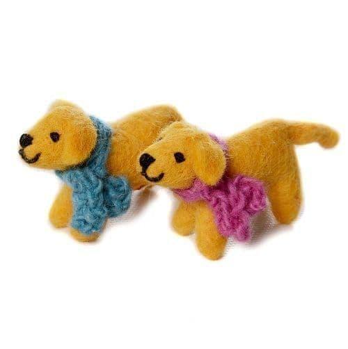 Mini golden labradors - set of two