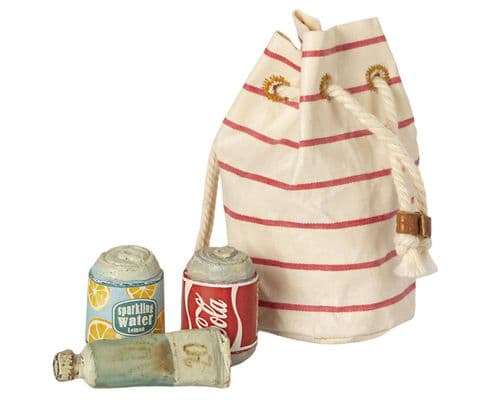 Miniature Beach bag with essentials