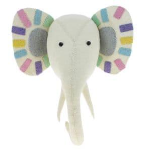 Pastel elephant wall-mounted head