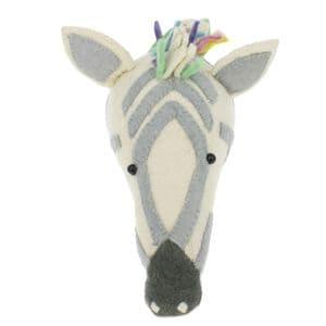 Pastel zebra wall-mounted head