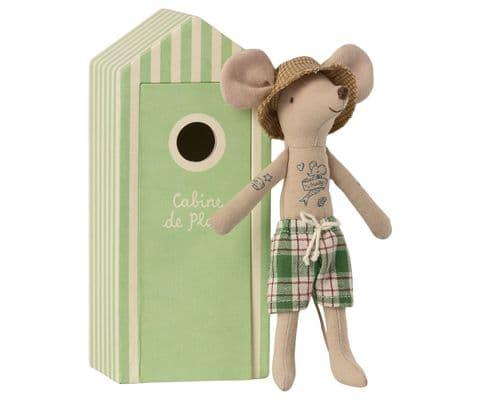 PRE-ORDER Beach mouse - dad in cabin de plage