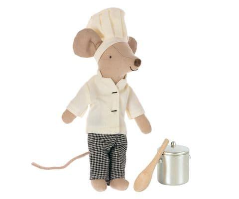 PRE-ORDER Big Brother Chef mouse, pot & spoon